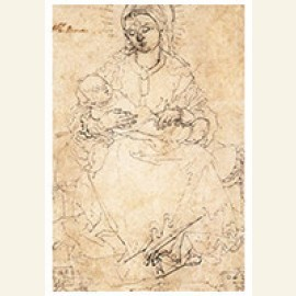 Madonna And Child On A Stone Bench