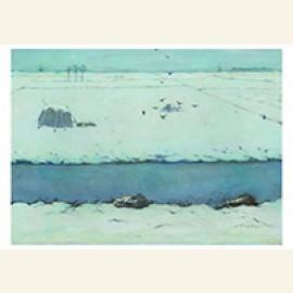 Sneeuwlandschap met sloot, 1913