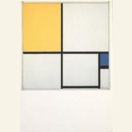 Compositie met geel en blauw