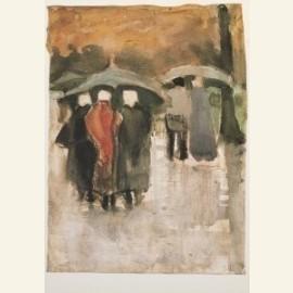 Dans la pluie