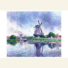 Holland, Windmill near the Canal, 1908
