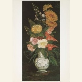 Vaas met asters en andere bloemen, 1890