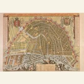 Kaart van Amsterdam, 1689