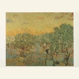 Olijfgaard met plukkende figuren, 1889