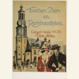 Tusschen Dam en Rembrandtplein, omslag bladmuziek