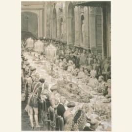 Feesttafel b.g.v het huwelijk van keizerdochter Vi