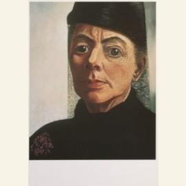 Zelfportret met zwarte hoed en voile, 1943-44