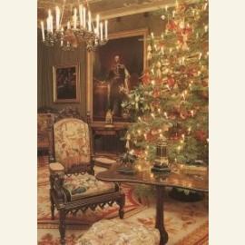 Kerstboom in salon koning Willem II