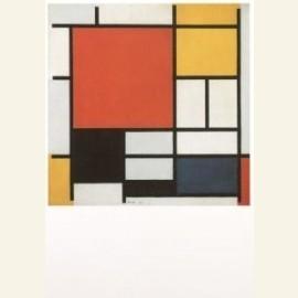 Compositie met rood, geel, blauw en zwart