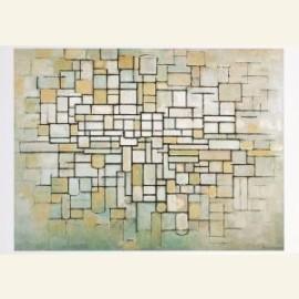 Compositie in lijn en kleur, 1913