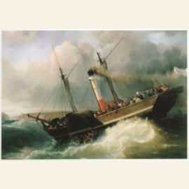 Passagiersstoomschip in de kustwateren van de Zwar