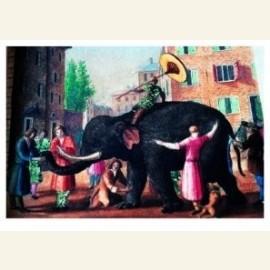 Blinde mensen die een olifant beschrijven (Uit: