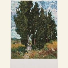 Cypressen met twee vrouwenfiguren - Cypresses with