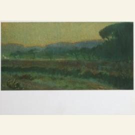 Vallei met geboomte - Wooded valley, ca. 1910