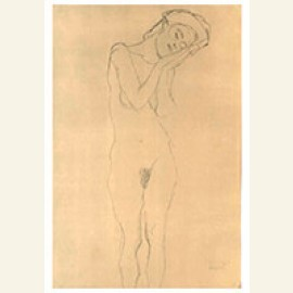 Female nude with hand at the check