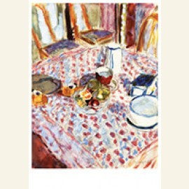 Still Life on a Red Checkered Tablecloth, 1930-1935