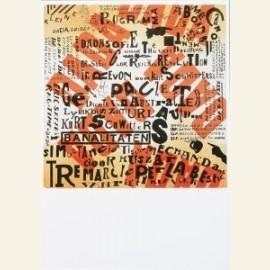 Affiche van een Dada-tentoonstelling