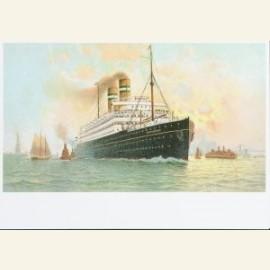 Oude reclameprentbriefkaart naar een schilderij va