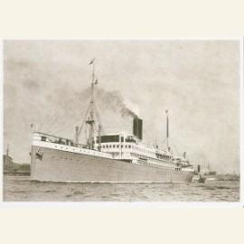 Turbinemailschip SS 'Patria' van de Rotterdamse Ll