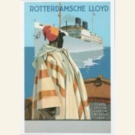 Prentbriefkaart naar een scheepsaffiche ca. 1924