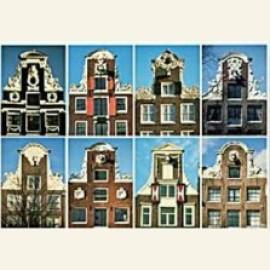 Eight neck-gables (halsgevels), Amsterdam