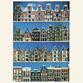Dutch gables : 4 Rows of Canal Houses, Amsterdam