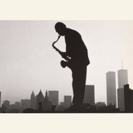 Saxophonist Jeff Marx on New York Rooftop