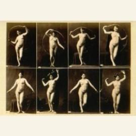 Studie van vrouw in 8 poses