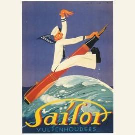 Sailor, vulpenhouders, affiche 1931