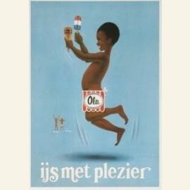 Niet uitgevoerd affiche-ontwerp voor Ola-ijs, 1977