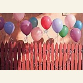 Balloons on Fence