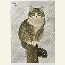 Max in sneeuw