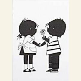 Jip en Janneke met een bloemetje