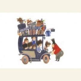 Kinderen in auto