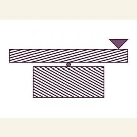 Geometric-optical illusion.Illusion of 'unbalanced