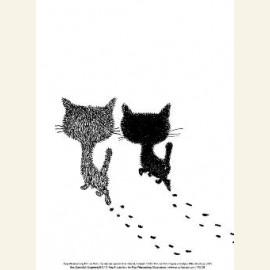 Pim en Pom lopen weg