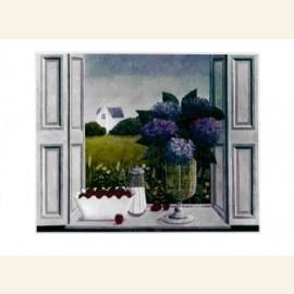Hortensia in venster