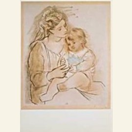 Picasso/Moeder + kind/BR/HGM