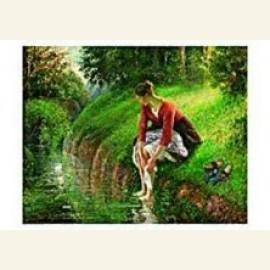 C.Pissarro/Young Woman Bathing