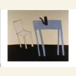 Witte stoel met bla